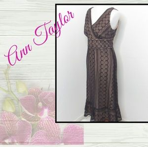 LOFT Ann Taylor Lace Sleeveless Evening Dress New